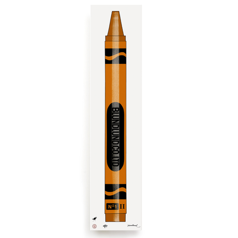 BLUNDLUND.CO.,LTD FINE ART PRINT - CRAYONS ORANGE / LIMITED EDITION