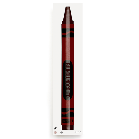 BLUNDLUND.CO.,LTD FINE ART PRINT - CRAYONS RED / LIMITED EDITION