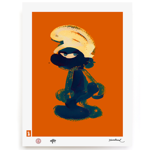 BLUNDLUND.CO.,LTD FINE ART PRINT - GRRR BLUE ORANGE / LIMITED EDITION OF 250