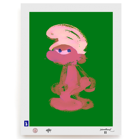 BLUNDLUND.CO.,LTD FINE ART PRINT - GRRR PINK GREEN / LIMITED EDITION OF 250