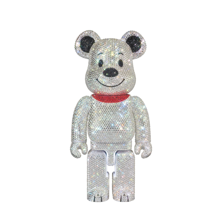CRYSTAL SNOOPY BE@RBRICK 400% / MEDICOM TOY PLUS EXCLUSIVE