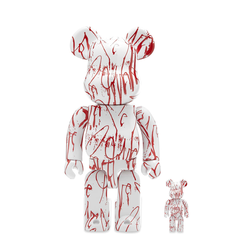BE@RBRICK LOVE ME - SET 100/400% X CURTIS KULIG / MEDICOM TOY + EXCLUSIVE