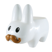 Load image into Gallery viewer, STACHE LABBIT STOOL - WHITE / KIDROBOT