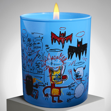 Load image into Gallery viewer, jean_michel_basquiat-scented_candle_blue-ligne_blanche-eye_shut_island-designshop_stockholm-