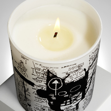 Load image into Gallery viewer, JEAN-MICHEL BASQUIAT - RETURN OF THE CENTRAL FIGURE / ARTISANAL SCENTED CANDLE