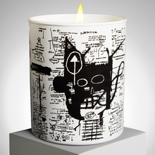 Load image into Gallery viewer, jean_michel_basquiat-scented_candle_return_of_the_central_figure-ligne_blanche-eye_shut_island-designshop_stockholm