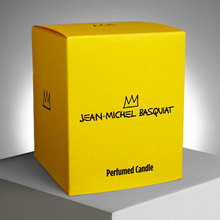 Load image into Gallery viewer, JEAN-MICHEL BASQUIAT - BLUE  / ARTISANAL SCENTED CANDLE