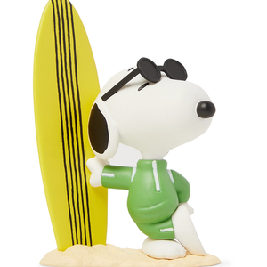 JOE COOL SNOOPY w/ SURFBOARD MEDICOM TOY EYE SHUT ISLAND