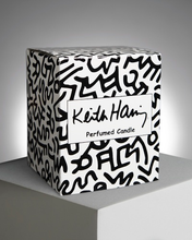 Load image into Gallery viewer, KEITH HARING RED RUNNING HEART / ARTISANAL SCENTED CANDLE