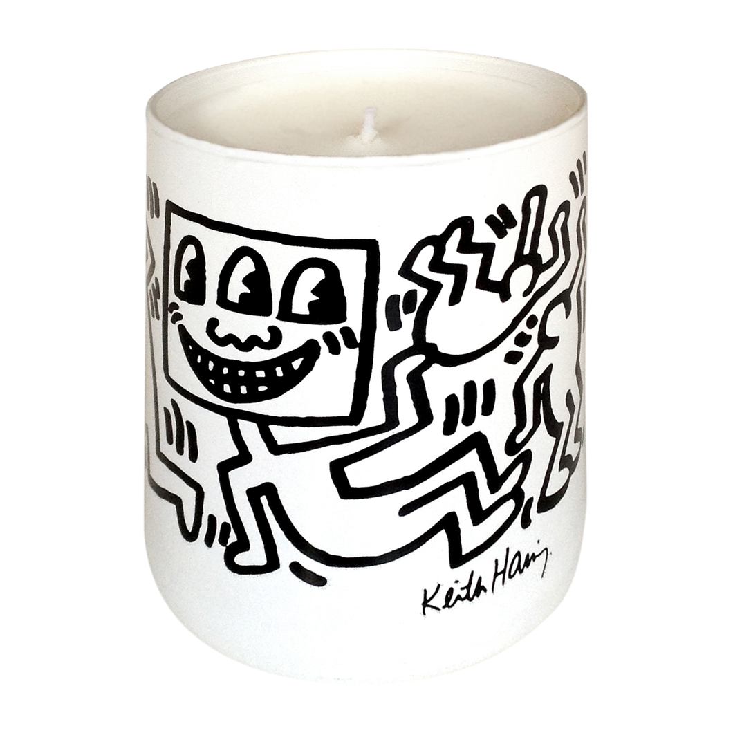 KEITH HARING WHITE & BLACK / ARTISANAL SCENTED CANDLE