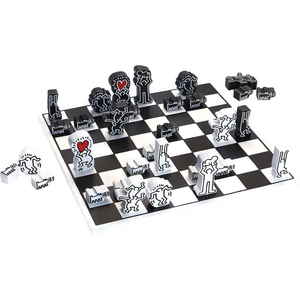 KEITH HARING / WODDEN CHESS SET