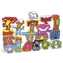 KEITH HARING / WODDEN BLOCKS