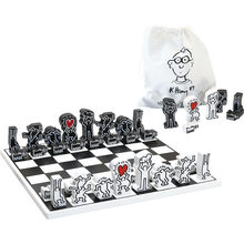 Load image into Gallery viewer, KEITH HARING / WODDEN CHESS SET