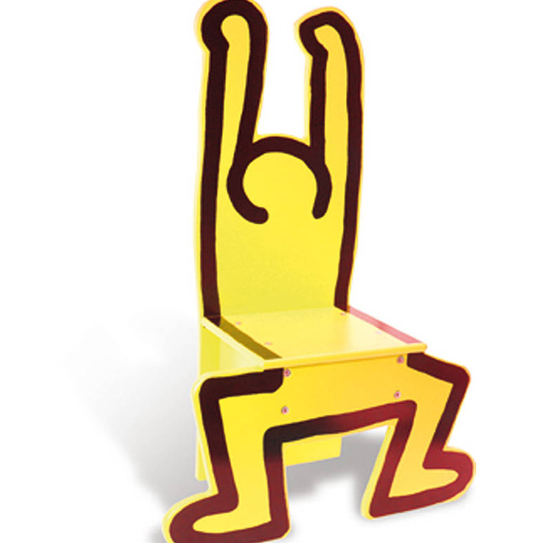 KEITH HARING - YELLOW CHAIR / VILAC