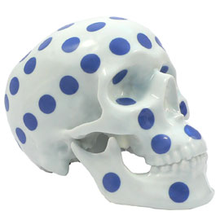Load image into Gallery viewer, SKULL POLKA DOT BLUE BY NOON  PORCELAIN - NOON  / K OLIN TRIBU