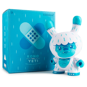 KONO THE YETI ICE BLUE DUNNY ART FIGURE BY SQUINK / KIDROBOT