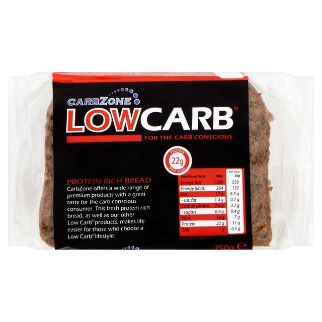 CarbZone Low Carb Protein Bread 250g
