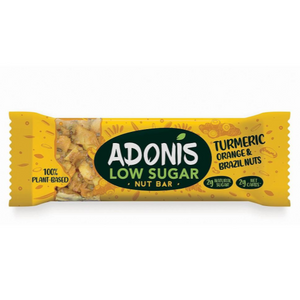 Adonis Natural Low Sugar Turmeric, Orange and Brazil Nut Bar (Box of 16)