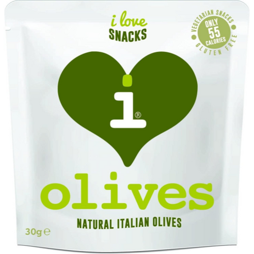 I Love Snacks - Natural Italian Olives (Box of 15 x 25g)
