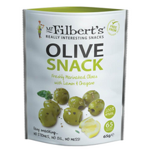 Mr Filberts Pitted Green Snack Olives (Box of 8 x 65g)