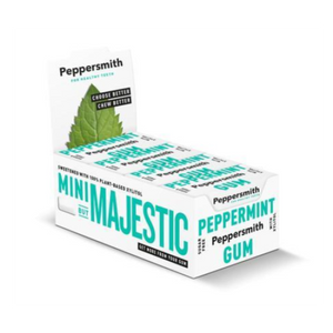 Peppersmith Xylitol Gum (Box of 12 Pocket Packs)