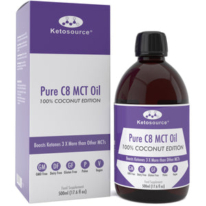 Case of 24 x Ketosource Pure C8 MCT Oil (500ml Coconut) BBE: 31 May 2021