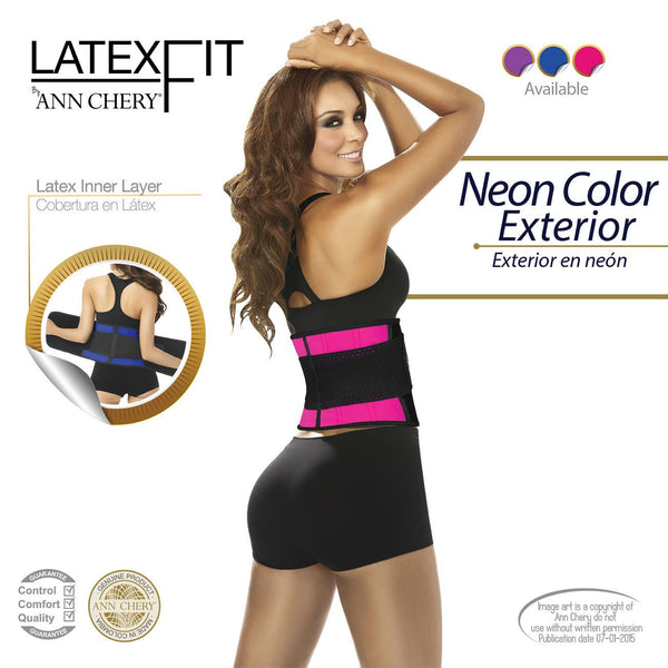 2051 Latex Fit Waist Shaper Belt Color Pink