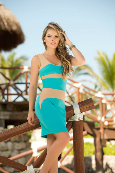 4900 Dress Color Turquoise