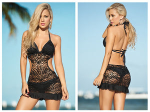 1029 Cover-Up Beach Dress Color Black