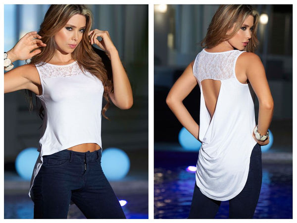 9799 Blouse Color White
