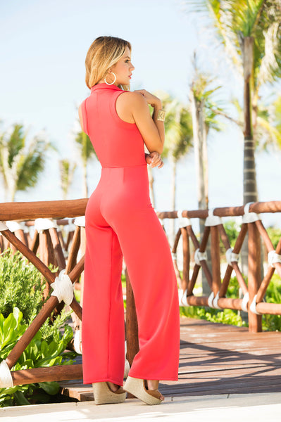 1841 Jumpsuit Color Coral