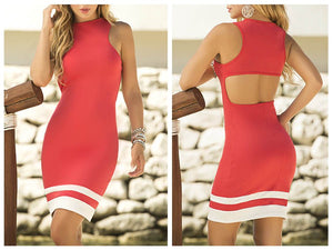 4898 Dress Color Coral