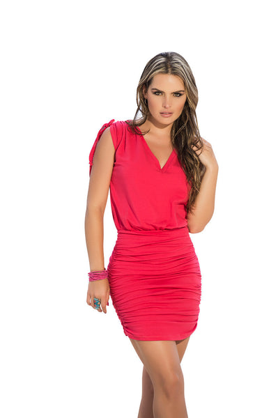 4917 Dress Color Coral