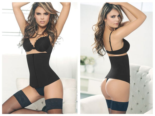 1024B Powernet Girdle with Zipper Color Black