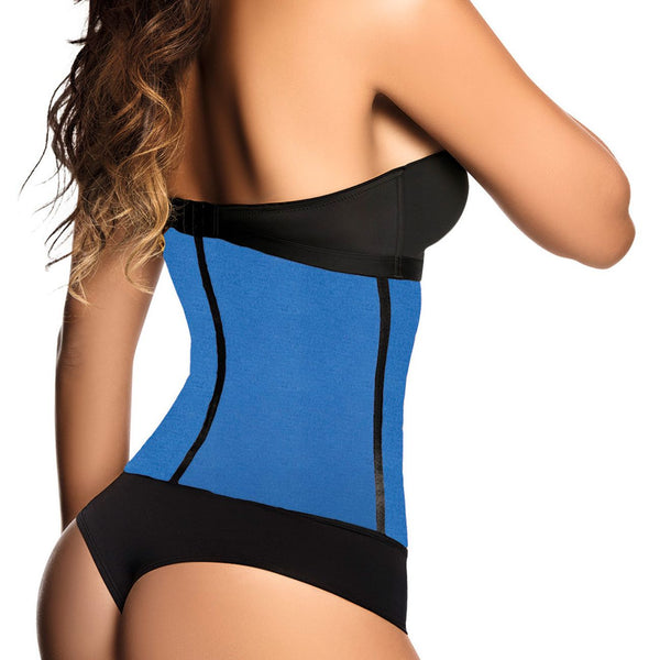 2023 Latex Sport Workout Waist Cincher Corset Color Blue