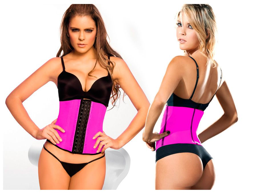 2026 Latex Sport Girdle Body Shaper Color Fuchsia