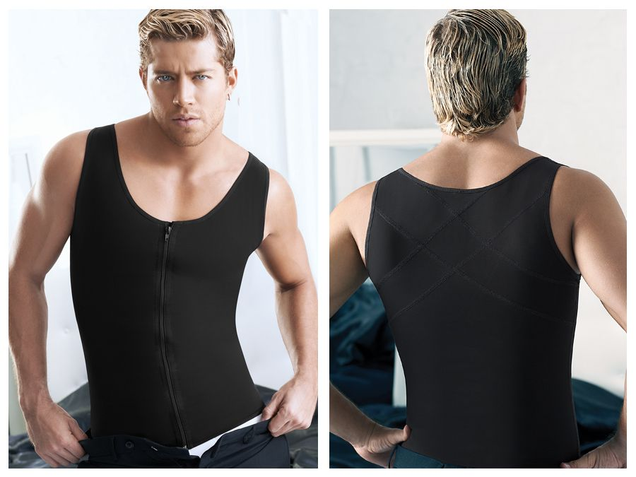 2034 Latex Men Girdle Body Shaper Color Black