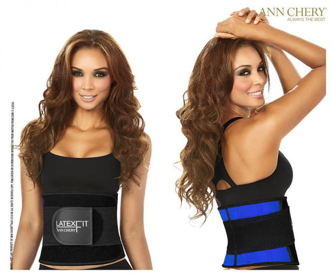 2051 Latex Fit Waist Shaper Belt Color Blue
