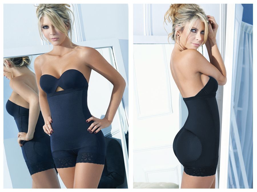 4013 Latex Shirly Strapless Shapewear Color Black