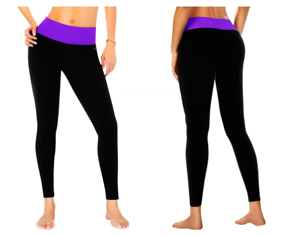 7026 Control Leggings Neon Color Purple