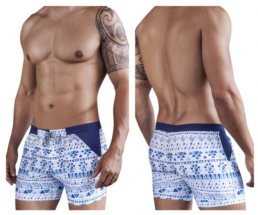 0610 Scandinavian Swimsuit Trunk Color Blue