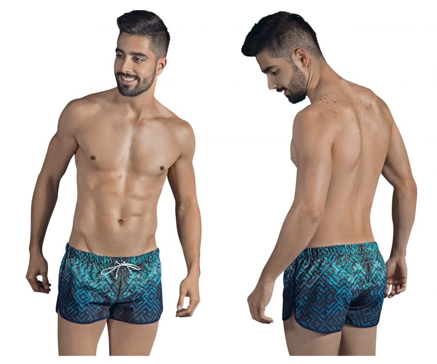 0629 Labyrinth Swim Trunks Color Blue