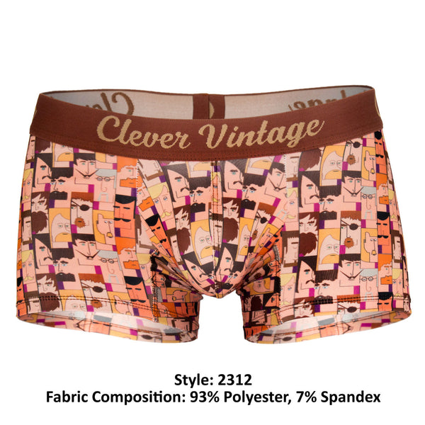 2312 Cartoon Boxer Briefs Color Brown