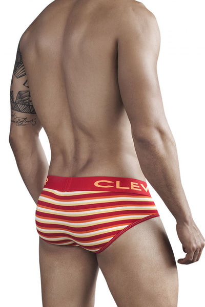 5270 Navajo Code Piping Brief Color Red