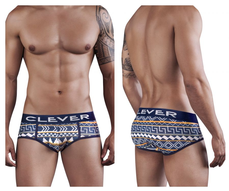 5277 Azteca Magic Piping Brief Color Blue