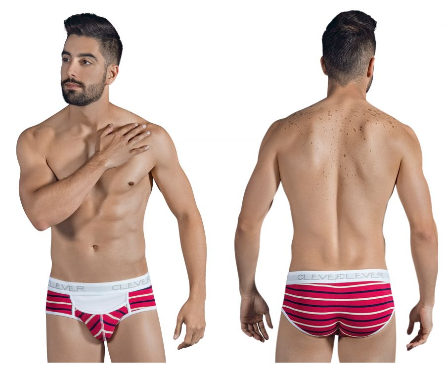5297 Wine Briefs Color Red