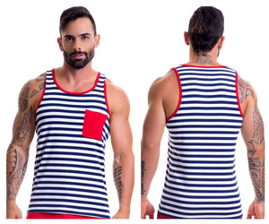 0390 Navy Tank Top Color Multi-colored