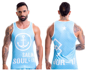 0398 Dandy Tank Top Color Light-Blue