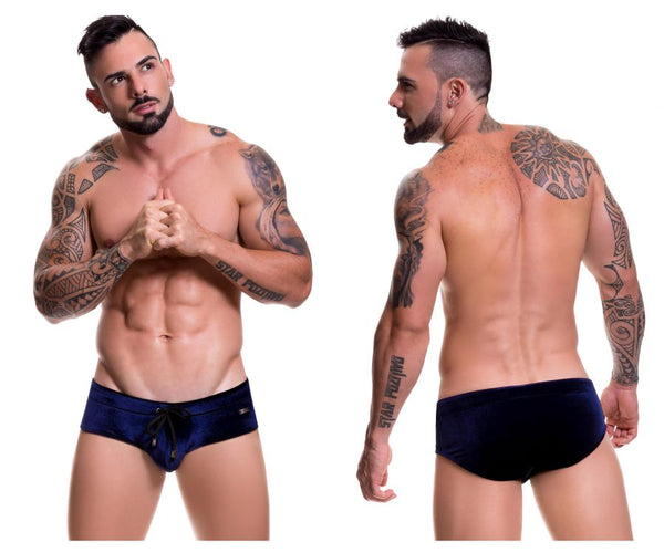 0493 Velvet Swim Briefs Color Blue