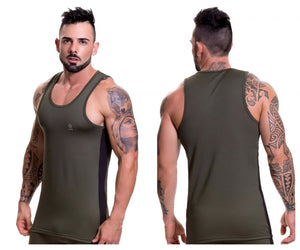 0515 Runner Tank Top Color Green